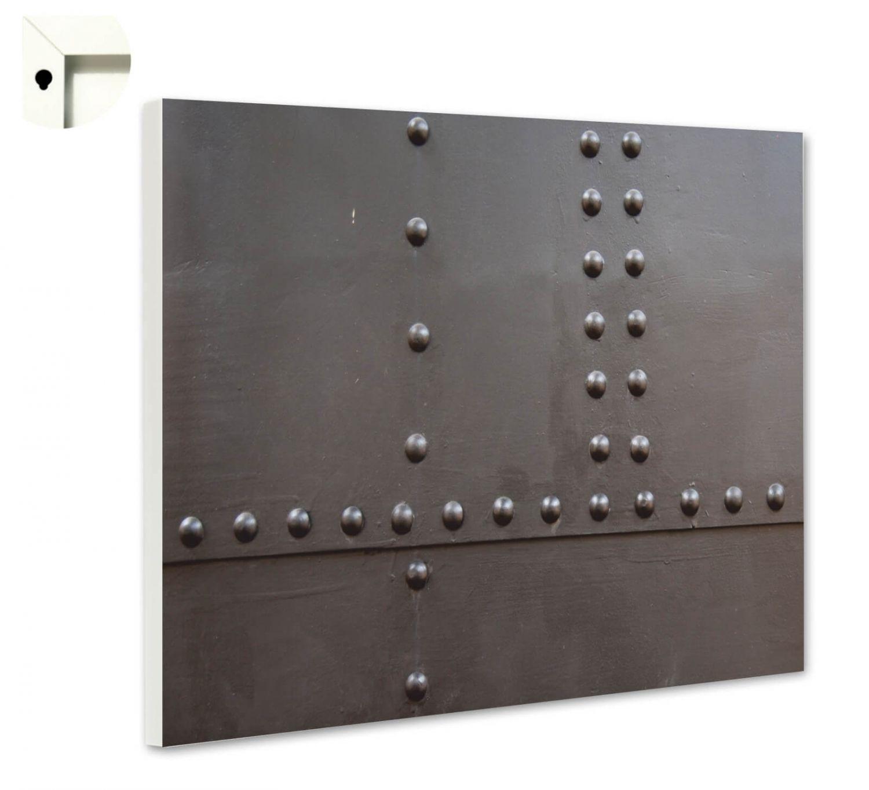 magnettafel pinnwand mit motiv muster eisen metall nieten ebay. Black Bedroom Furniture Sets. Home Design Ideas
