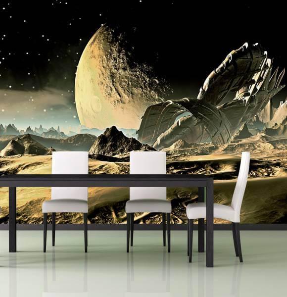 Poster Fototapete Fantasy Fremder Planet