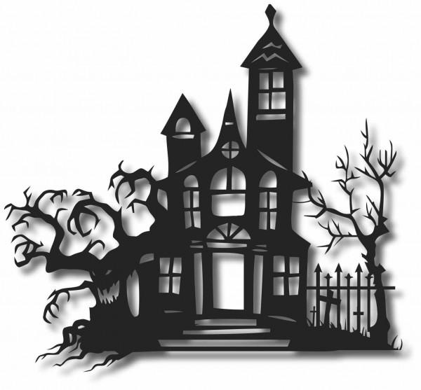 Bild Wandbild 3D Wandtattoo Acryl Gothic Horrorhaus Spukhaus