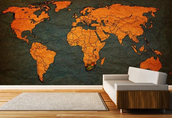 Vlies Tapete XXL Poster Fototapete Weltkarte Landkarte