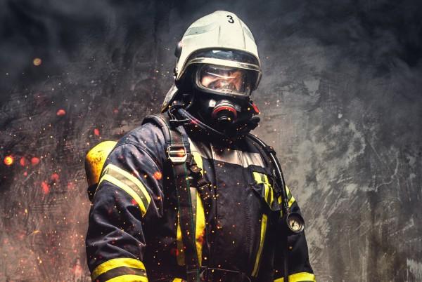 Magnettafel Pinnwand XXL Magnetbild Feuerwehrmann Feuerwehr
