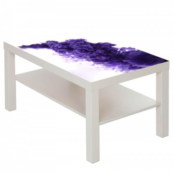 Couchtisch Tisch mit Motiv Bild Muster Rauch in lila