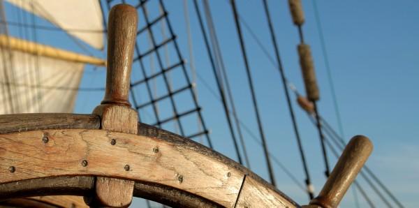 Magnettafel Pinnwand Bild XXL Panorama Steuerrad Segelschiff