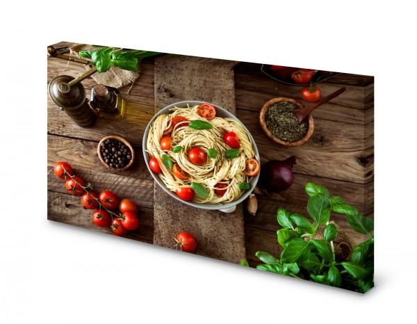 Magnettafel Pinnwand Bild Spaghetti Pasta Holz rustikal