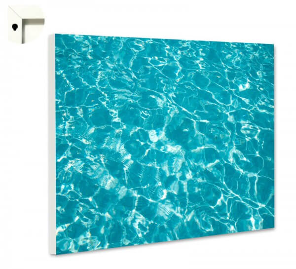 Magnettafel Pinnwand Muster Swimming Pool türkis