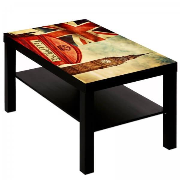 Couchtisch Tisch mit Motiv Bild England Union Jack Big Ben