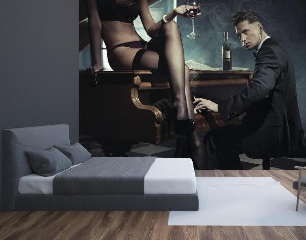 Vlies Tapete XXL Poster Fototapete Erotik Piano Bar