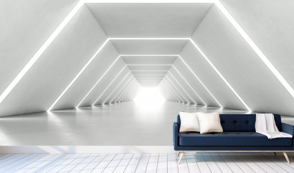 Vlies Tapete Poster XXL Fototapete 3D Effekt Licht Tunnel Abstrakt