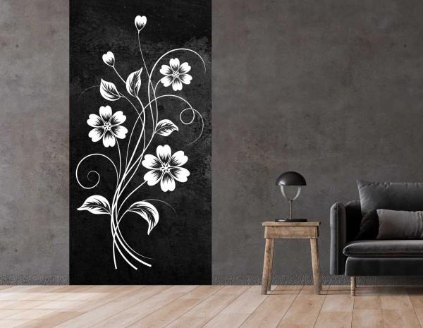 Vlies Tapete Betonoptik Poster Fototapete Tribal Blumen Flower Natural