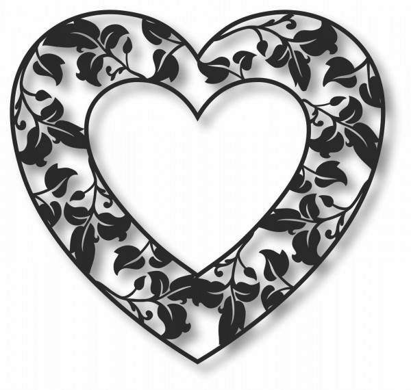 Bild Wandbild 3D Wandtattoo Acryl Mobile Deko Herz Blüten Natur