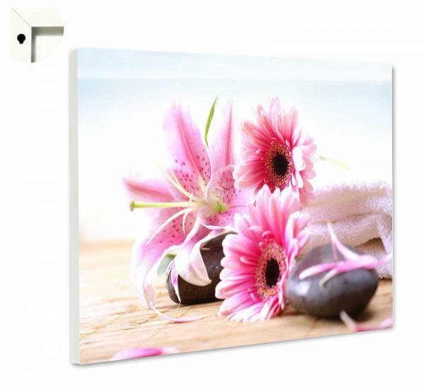 Magnettafel Pinnwand Blumen Natur Wellness Spa