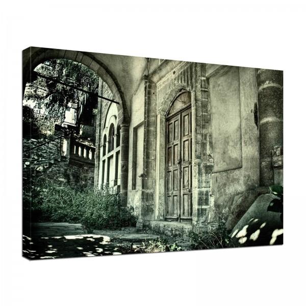 Leinwand Bild edel Gothic Fantasy Lost Places 2