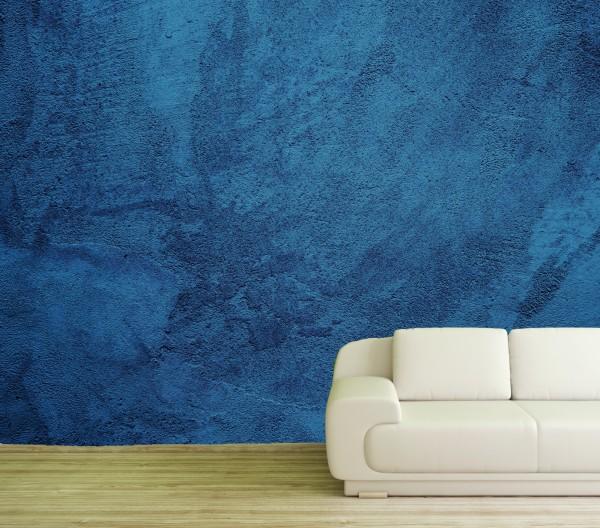 Vlies Tapete Poster XXL Fototapete Putz Betonoptik Wand blau