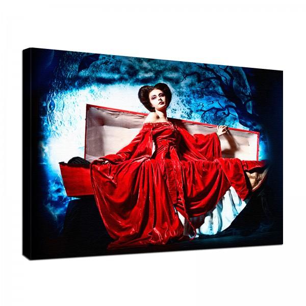 Leinwandbild Gothic Lady Dracula