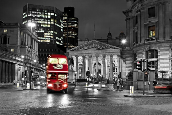 Magnettafel Pinnwand XXL Bild red Bus London England