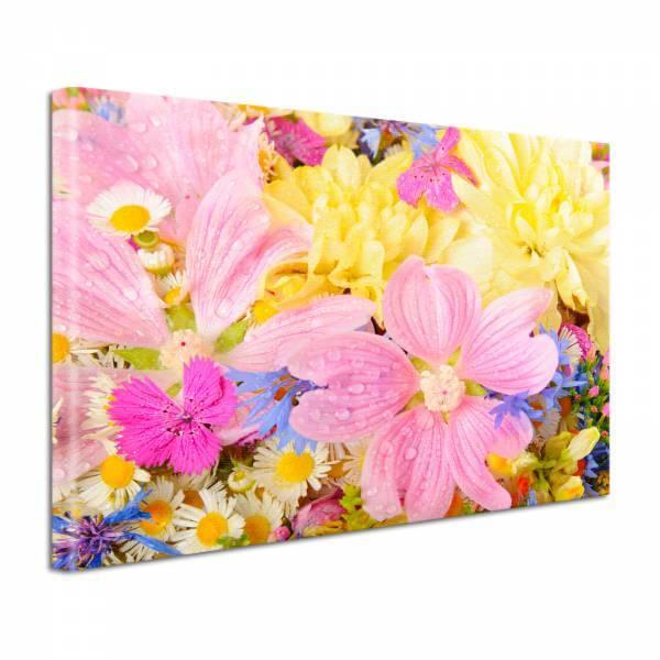 Leinwand Bild edel Blumen Blütentraum bunt