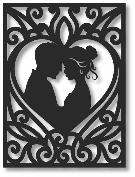 Bild Wandbild 3D Wandtattoo Acryl Mobile Paar Retro Liebe Love