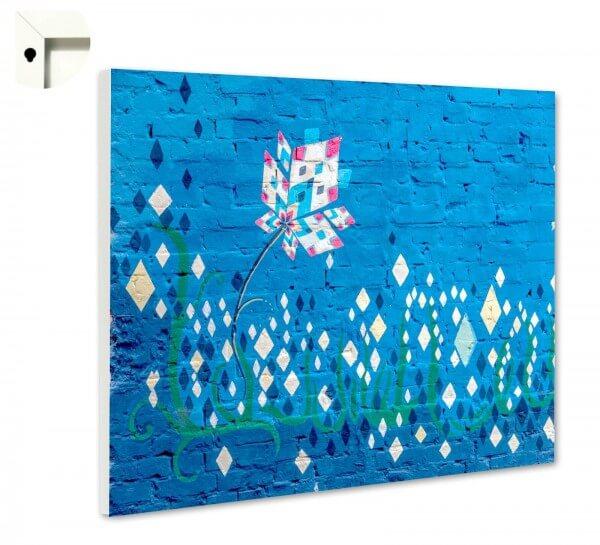 Magnettafel Pinnwand Muster Mauer blau