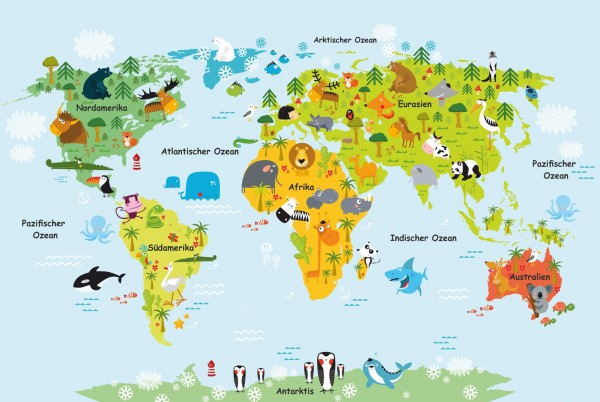 Magnettafel Pinnwand Weltkarte Landkarte Kinder