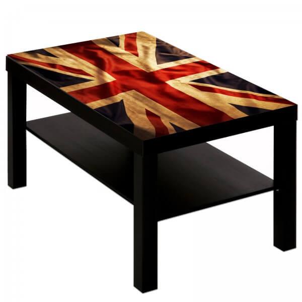 Couchtisch mit Motiv Städte Flagge Union Jack England
