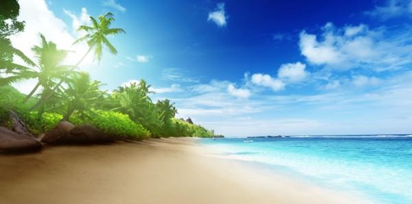 Magnettafel Pinnwand Bild Panorama Natur Sommer Sonne Strand