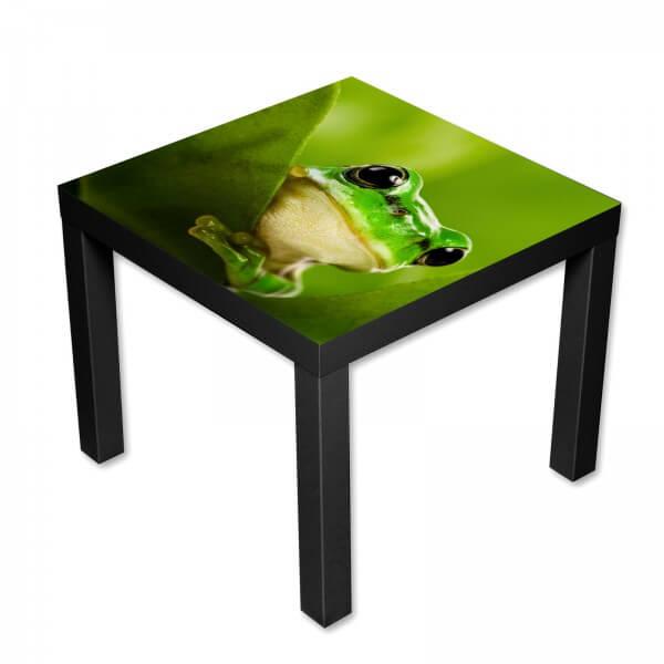 Beistelltisch Couchtisch mit Motiv Tiere Frosch in grün