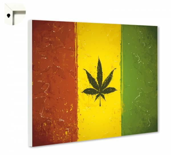 Magnettafel Reggae Cannabis
