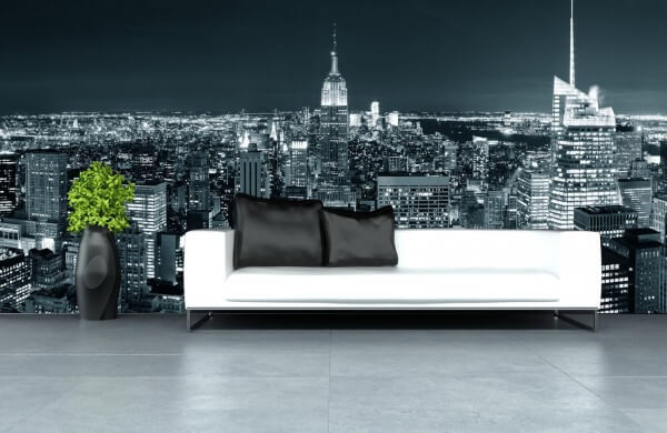 Vlies Tapete XXL Poster Fototapete New York City Skyline