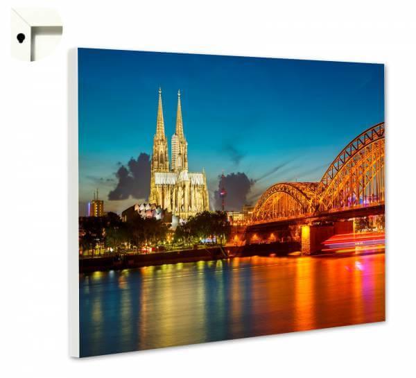 Magnettafel Pinnwand mit Motiv Köln Dom bei Nacht