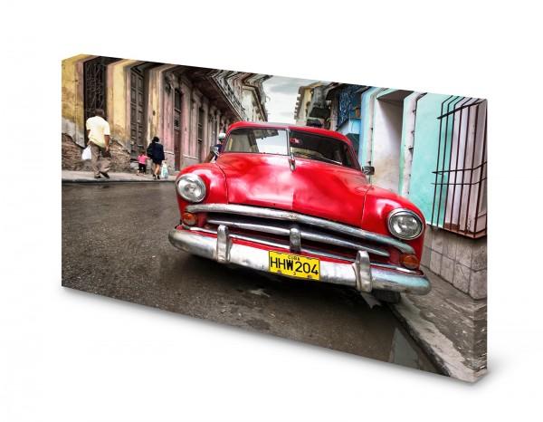 Magnettafel Pinnwand Bild Oldtimer Kuba XXL gekantet