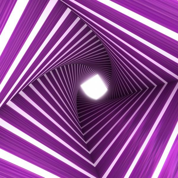 Vlies Tapete XXL Poster Fototapete 3D Effekt lila Tunnel