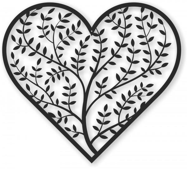 Bild Wandbild Wandtattoo Acryl Mobile Herz Zweig Baum Abstrakt