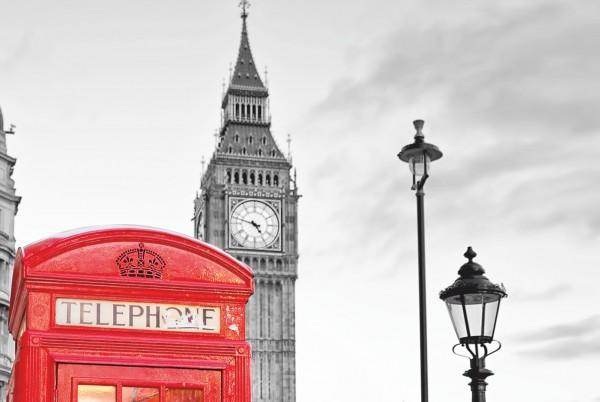 Magnettafel Pinnwand XXL London Big Ben Telephone