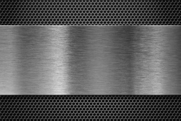 Magnettafel Pinnwand XXL Bild Lochblech Stahl Edelstahl Optik