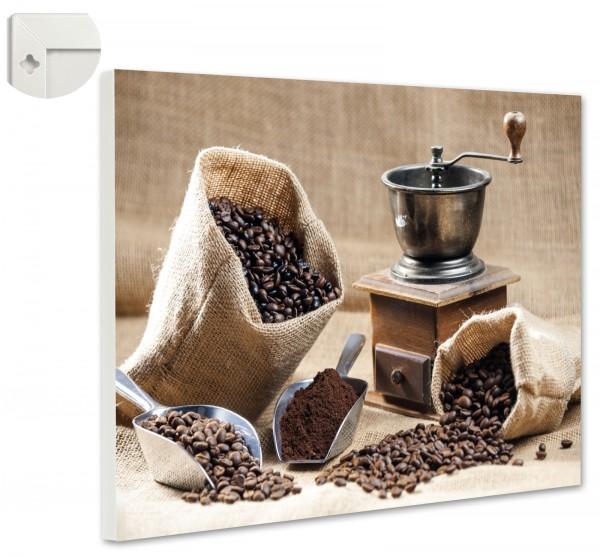 Magnettafel Pinnwand Magnetwand Kaffeemühle Kaffeesack Kaffee