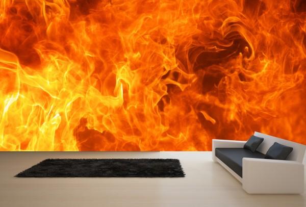 Vlies Tapete XXL Poster Fototapete Feuer Flammen