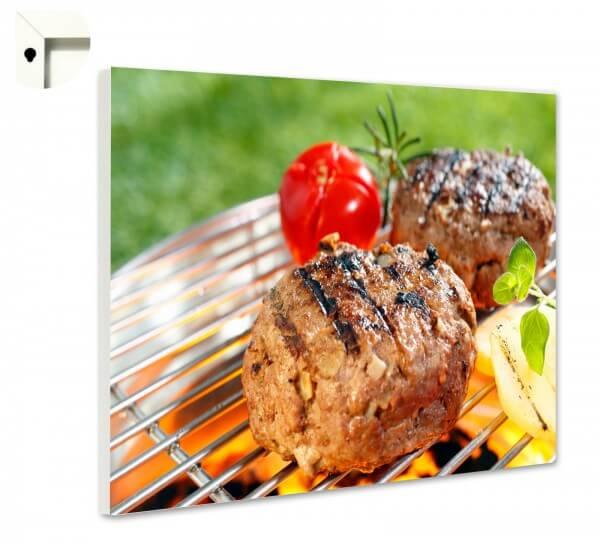 Magnettafel Pinnwand Küche Burger grillen