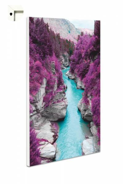 Magnettafel Pinnwand Blumen Natur Lila Fluss
