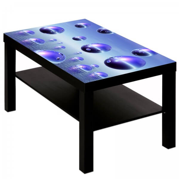 Couchtisch Tisch mit Motiv Bild Muster Kugeln in lila