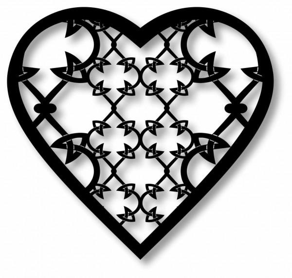 Bild Wandbild 3D Wandtattoo Acryl Mobile Herz Muster Abstrakt Dornen