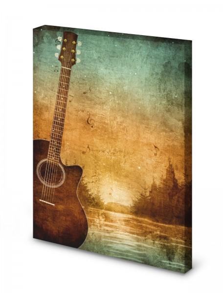 Magnettafel Pinnwand Bild Gitarre Retro Musik XXL gekantet