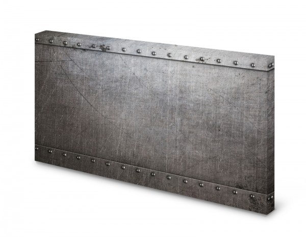 Magnettafel Pinnwand Bild Metall Metalloptik Stahl alt gekantet