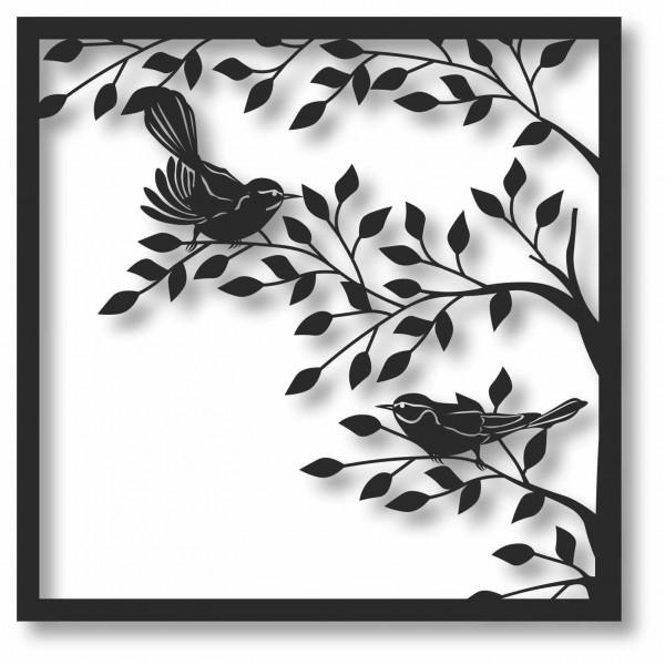Bild Wandbild 3D Wandtattoo Acryl Mobile Vögel Vogel Zweige Natur