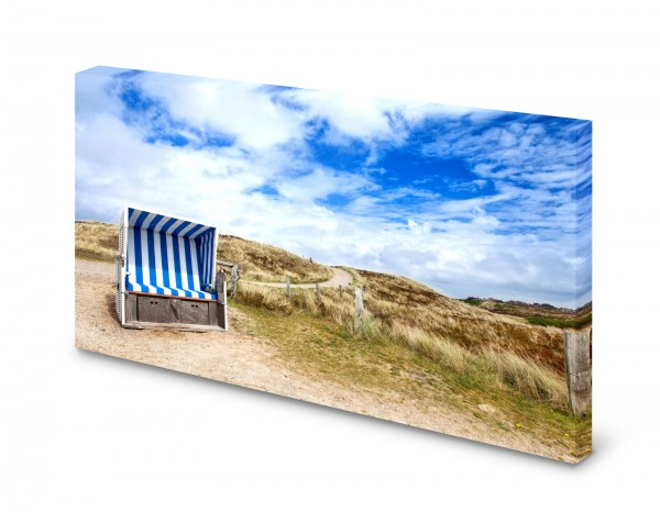 Magnettafel Pinnwand Bild Natur Strandkorb Strand Düne XXL gekantet