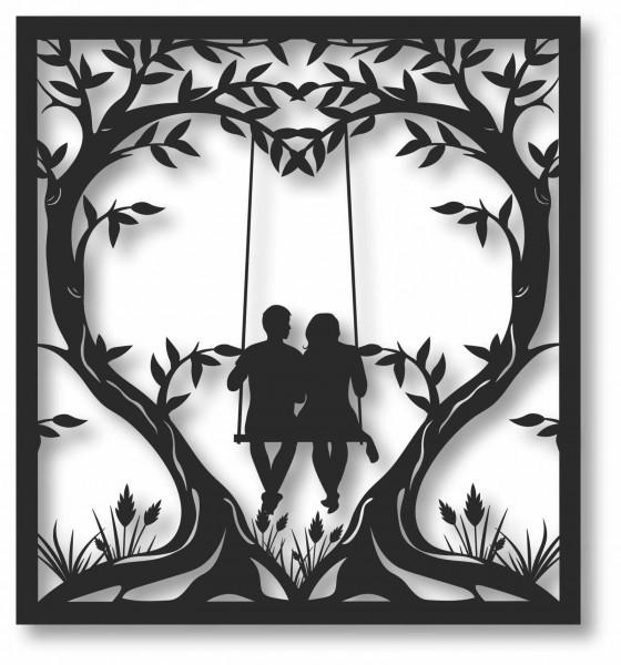 Bild Wandbild 3D Wandtattoo Acryl Mobile Paar Liebe Herz Ehe Love
