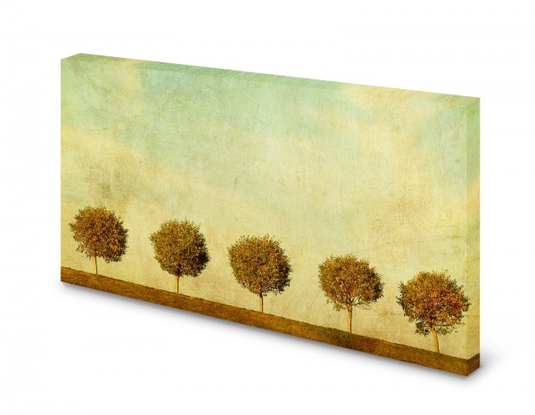 Magnettafel Pinnwand Bild Allee Bäume Vintage Retro gekantet