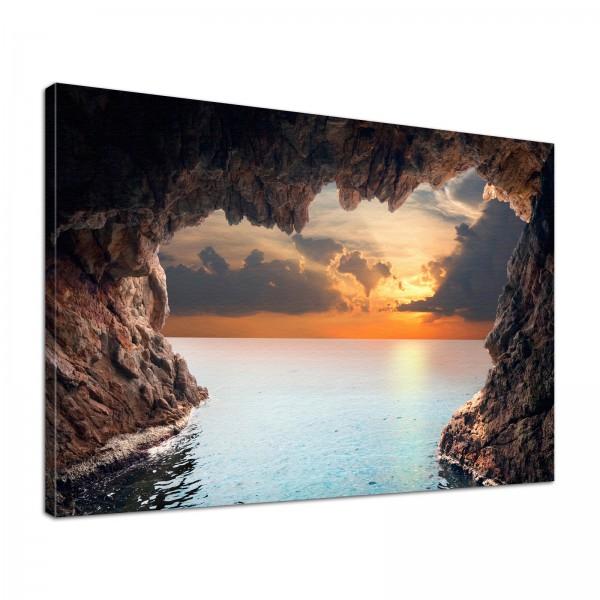 Leinwand Bild edel Natur Grotte