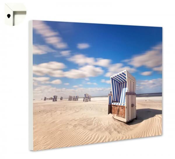 Magnettafel Pinnwand Natur Sylt Strand Strandkorb