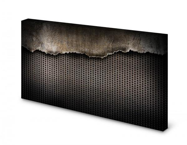 Magnettafel Pinnwand Bild Metall Lochblech alt gekantet
