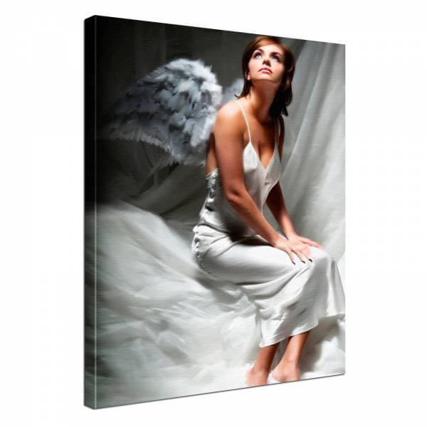 Leinwand Bild edel Erotik Engel
